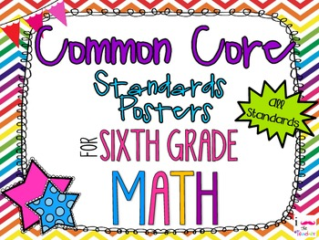 {FREEBIE} 6th Grade Math Common Core *Standards Posters* R