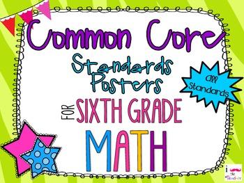{FREEBIE} 6th Grade Math Common Core *Standards Posters* Z