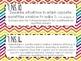 {FREEBIE} 7th Grade Math Common Core *Standards Posters* Rainbow Chevron