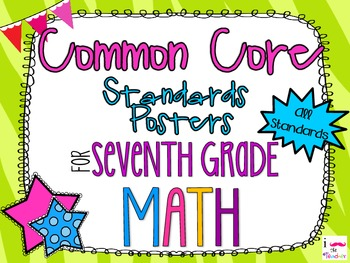 {FREEBIE} 7th Grade Math Common Core *Standards Posters* Zebra Print