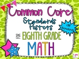 {FREEBIE} 8th Grade Math Common Core *Standards Posters* C