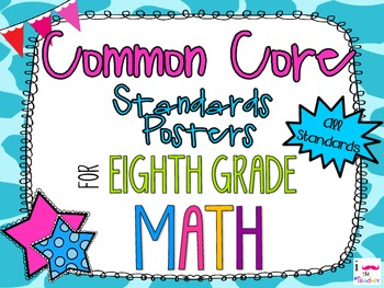 {FREEBIE} 8th Grade Math Common Core *Standards Posters* Giraffe Print