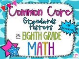 {FREEBIE} 8th Grade Math Common Core *Standards Posters* G