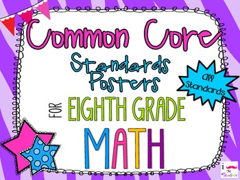{FREEBIE} 8th Grade Math Common Core *Standards Posters* Zebra Print