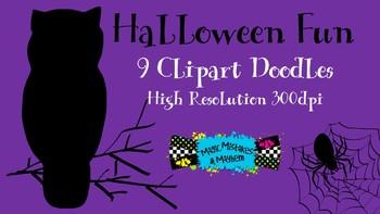 FREEBIE 9 Fun Bits of Halloween Clipart