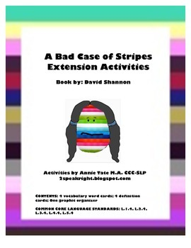 FREEBIE-A Bad Case of Stripes Extension Activities