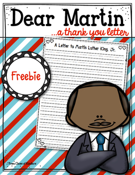 FREEBIE! A Letter to Martin Luther King Jr. Kindergarten and First Grade