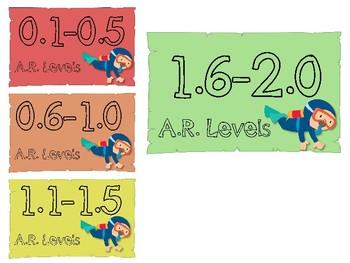 FREEBIE A.R. Levels Labels Ocean theme