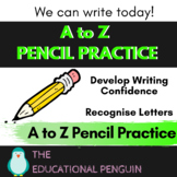 FREEBIE - A to Z Pencil Practice Worksheets