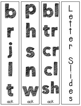 FREEBIE - ACK Word Chunk Slides