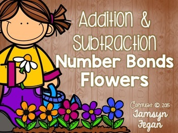 ***FREEBIE*** ADDITION and SUBTRACTION Number Bond Flowers