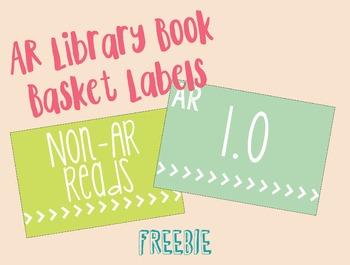 AR Book Basket Labels Freebie