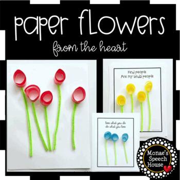 FREE! SPRING ARTICULATION  SPEECH  worksheets LOW PREP Paper Flowers