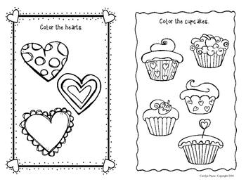 FREEBIE Activity Book:  Doodle Book Valentine's Theme