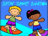 E Adding 4 2-digit Numbers Surfin' Summer Addition
