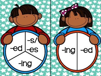 FREEBIE Adding Suffix -ed, -ing Literacy Center Word Work  RF.1.3