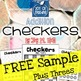 FREEBIE Addition Facts Checkers Sample Game PLUS THREES