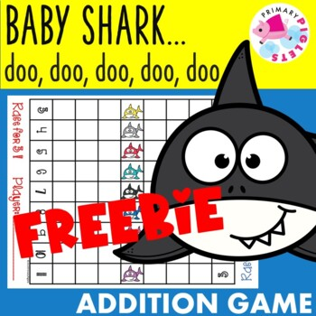 FREEBIE Addition Facts Game Baby Shark