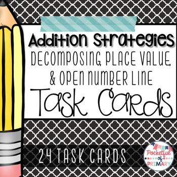FREEBIE - Addition Strategies TASK CARDS