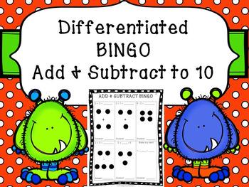 FREEBIE!  Addition & Subtraction BINGO 1-10