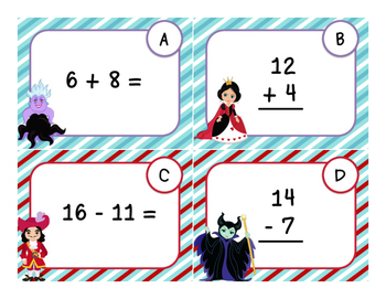 FREEBIE - Addition and Subtraction in 20 - Task Cards