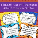 **FREEBIE**  Albert Einstein Quotes Poster Set