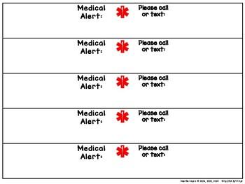 Editable Medical Alert Bracelets