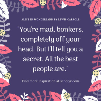 FREEBIE -- Alice in Wonderland Quote Poster -- Forest Theme