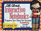 FREEBIE All About Interactive Notebooks Editable Expectati