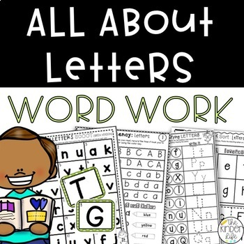 All About Letters Games and Activities