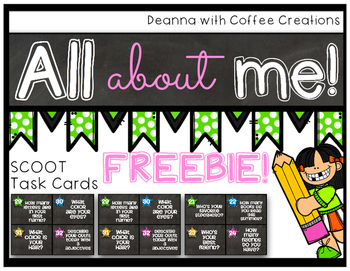 FREEBIE! All About Me SCOOT Activity