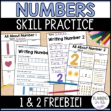 FREEBIE All About Numbers and Number Writing Practice 1-2