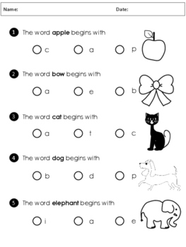 FREEBIE - Alphabet Beginning Sounds