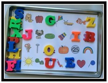 FREEBIE Alphabet First Sound Matching Mat - Letter Sounds - Literacy Center