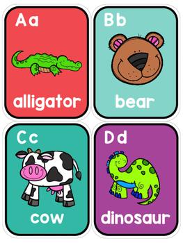 FREEBIE! Alphabet Letter Wall Mini