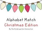 FREEBIE - Alphabet Match Christmas Edition
