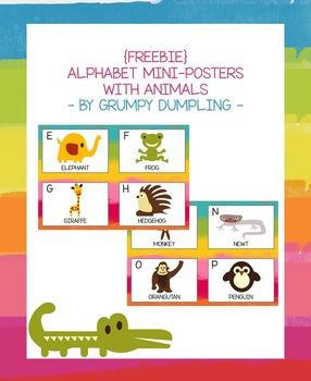 {FREEBIE} Alphabet Mini-Posters With Animals