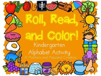 FREEBIE!! Alphabet Roll, Read, and Color