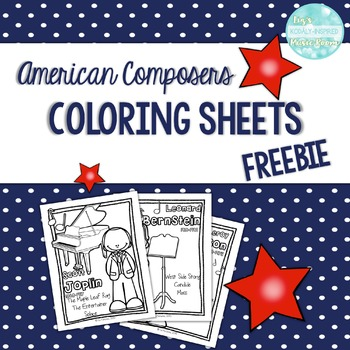 FREEBIE American Composer Coloring Sheets