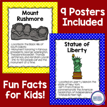 FREEBIE!! American Symbol Classroom Posters (Version #2)