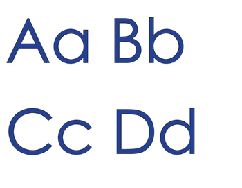 FREEBIE: An Alphabet for Your Wall with BLUE letters