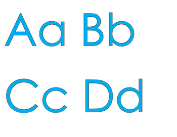 FREEBIE: An Alphabet for Your Wall with CIAN letters