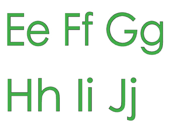 FREEBIE: An Alphabet for Your Wall with GREEN letters