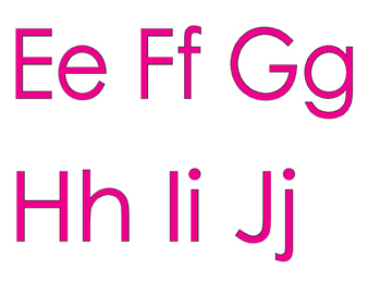 FREEBIE: An Alphabet for Your Wall with PINK letters