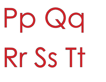 ★ FREEBIE ★ An Alphabet for Your Wall with RED letters