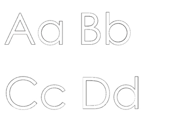 ★ FREEBIE ★ An Alphabet for Your Wall with WHITE letters