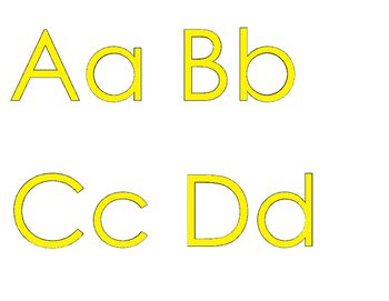 ★ FREEBIE ★ An Alphabet for Your Wall with YELLOW letters