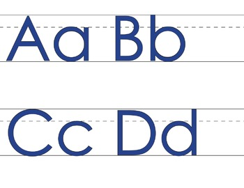 ★ FREEBIE ★ An Alphabet for Your Wall with lines