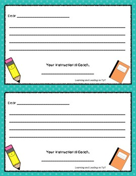 FREEBIE An Apple for the Teacher Positive Notes from Your Instructional Coach