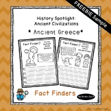 FREEBIE - Ancient Greece History Unit - Fact Finding Notebook Pages